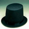 Black Lincoln Stove Pipe Hat Large
